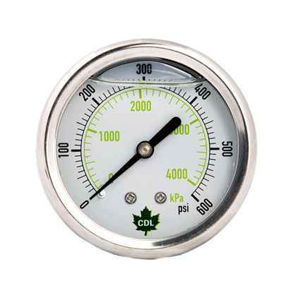 Picture of GLYCERINE GAUGE 200 PSI REAR OUT.