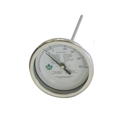 "Picture of THERMOMETER 3"" X 12"" (0-50°F) 1/4"" MIPT"