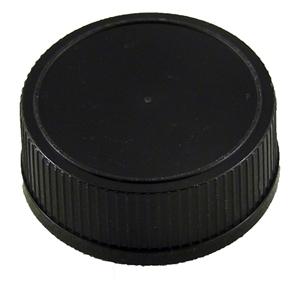 Picture of PLASTIC CAP 28MM BLACK T-E / KENT-WHISKEY