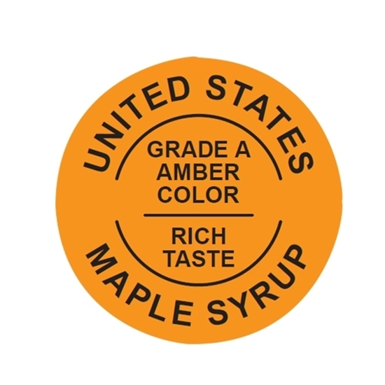 Picture of GRADING LABELS U.S. AMBER