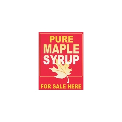 """Picture of SIGN PLASTIC 24""""X 36""""PURE MAPL"""