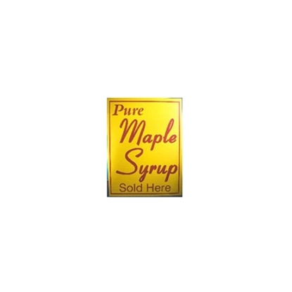 "Picture of 18X24 YELLOW SIGN ""PUR MAPLE SYRUP SOLD HERE"""
