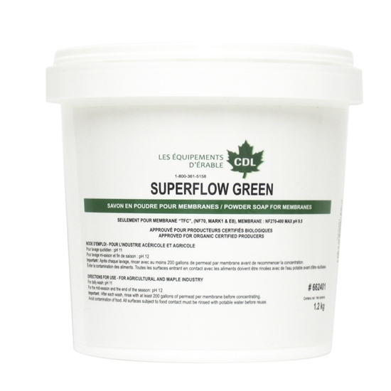 """Picture of ORGANIC MEMBRANE SOAP 1KG """"SUPERFLOW GREEN"""""""