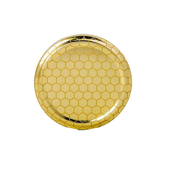 Picture of METAL LID  GOLD HONEY