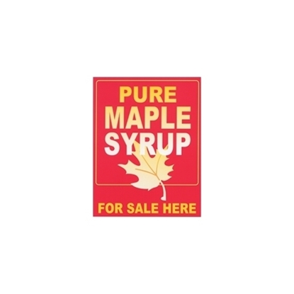 Picture of SIGN PLASTIC PURE MAPLE