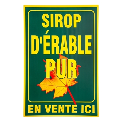 "Picture of GREEN SIGN  ""SIROP D'ERABLE PUR"""