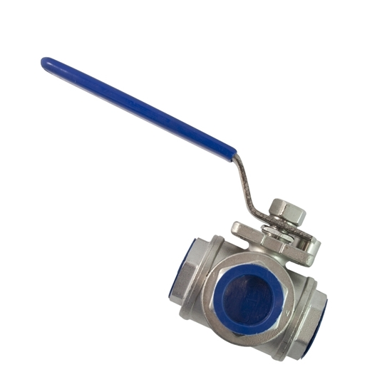 """Picture of 3-WAY STAINL. VALVE 1"""" (OSMOSIS)"""