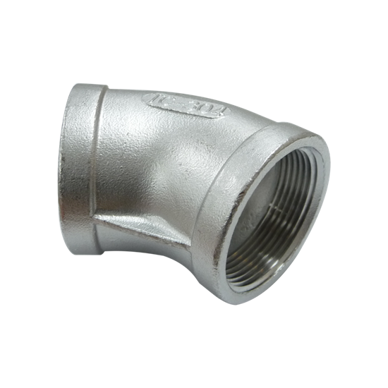 """Picture of SS ELBOW 1-1/2"""" 45° FIPT"""