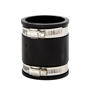 "Picture of RUBBER COUPLING 1-1/2"" + CLAMPS"
