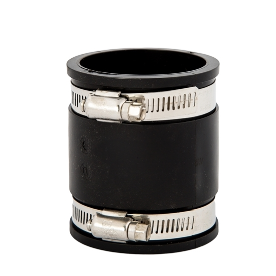 """Picture of RUBBER COUPLING 3"""" + CLAMPS"""