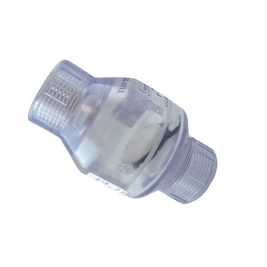 """Picture of PVC CHECK VALVE 1/2"""" CLEAR FIPT"""