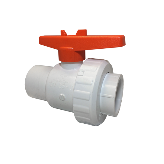 "Picture of PVC SINGLE UNION VALVE 1-1/2"" SLIP"