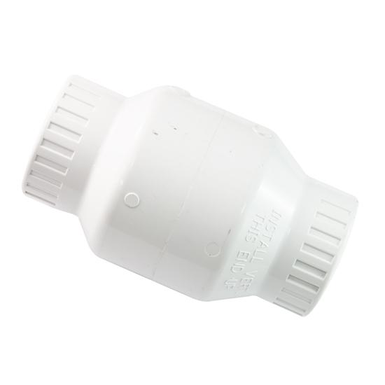 "Picture of PVC CHECK VALVE 1-1/2"" WHITE SLIP"