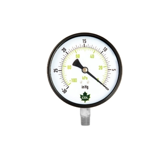 """Picture of VACUUM GAUGE 30 HG 2-1/2"""" SS"""