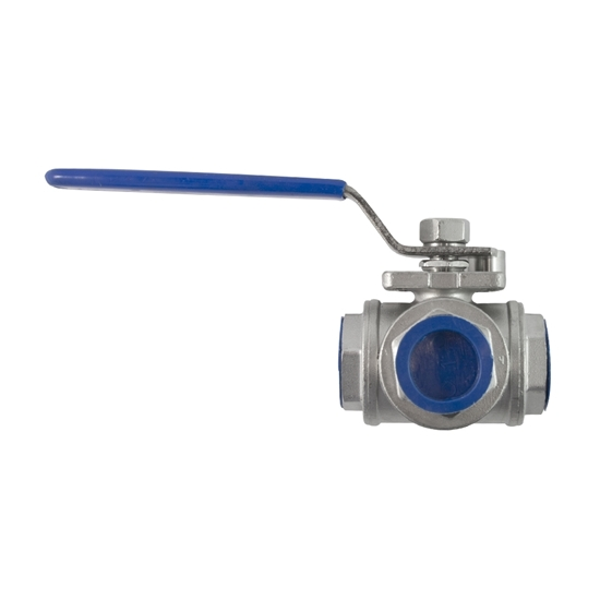 """Picture of 3-WAY STAINL. VALVE 1"""" (STANDARD)"""