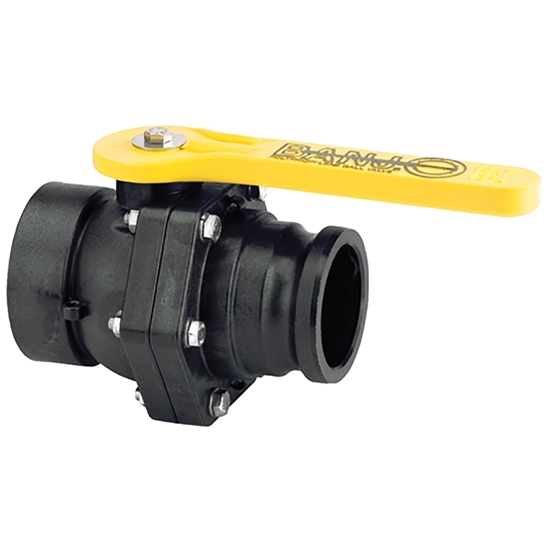 """Picture of POLYPRO. BALL VALVE 3"""" FIPT-MALE A - BANJO"""